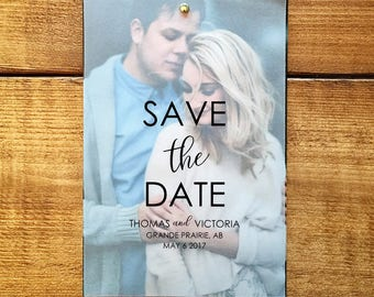 Vellum & Photo Save the Date // Simple Save the Date // Custom Save the Date