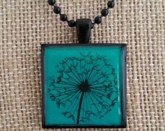 Dandelion Pendant Necklace