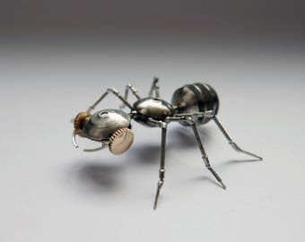 Watch Parts Insect Sculpture Ant No 1 Recycled Clockwork Insect Figurine Stems Metal Arthropod A Mechanical Mind Gershenson
