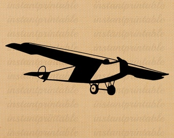 Airplane digital image, instant download, printable iron on fabric transfer, downloadable images, clip art, scrapbooking - no. 203