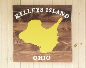 Kelleys Island, Wooden Sign