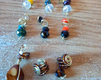 Handmade beads and wire hair jewellery/accessories for small locs, braids and twists