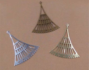 10 dangles all light silvery copper connectors, blank 22 * 27 mm (approx.)