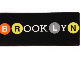 Brooklyn NYC metropolitane magnete, magneti da frigorifero, cucina magneti, magneti del frigorifero, regali, souvenir