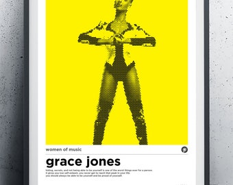 A3 Grace Jones Women of Music Poster