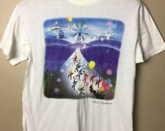 Vintage Seiji Fujishiro Art Drawing Illustration Japanese Artist T Shirt