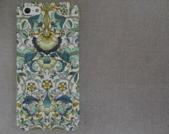 Liberty fabric iPhone & Samsung Galaxy case - William Morris Lodden Green