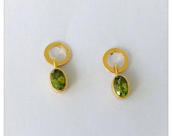 Earrings with Peridot