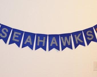 Seahawks Banner, Football banner, Word banner, Seahawks Garland, Team banner, football