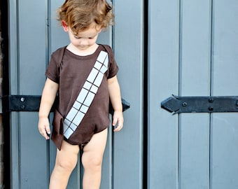 Star Wars Gift, Chewbacca Costume, Baby Clothes, Geeky Baby, Nerdy Gift, Geekery, Wookie Baby Onsie, Baby Shower Gift, Baby Clothes