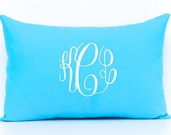 Monogram PIllow Cover - Personalized Gift - 12 x 16 - Dorm Decor - Custom Pillow - Wedding Gift - Decorative Pillow Cover