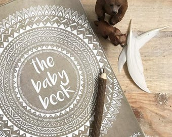Boho Baby Book record milestone journal keepsake natural tribal mandala bohemian