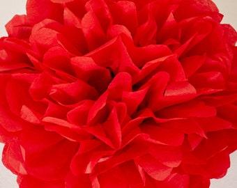 Scarlet Paper Pom Pom