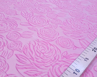 Pink roses jacquard fabric #817