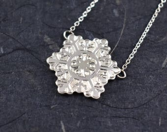 Snow Dancer Snowflake Necklace // Sterling Silver Necklace // Chain Necklace // Winter Jewelry // Village Silversmith