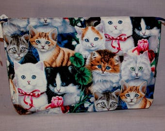 Cute Cats and Kittens Zippered Bag