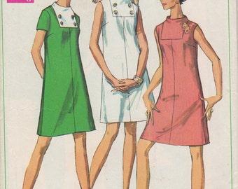 Bust 34-1968 Misses' Dress Simplicity 7676 Size 12