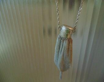 Vintage Silver expandable-neck purse