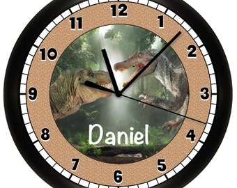 Personalized Dinosaur 10 Inches Wall Clock
