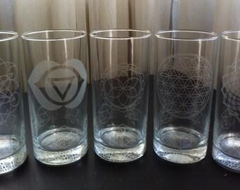 Sacred Geometry Glassware..large tumbler