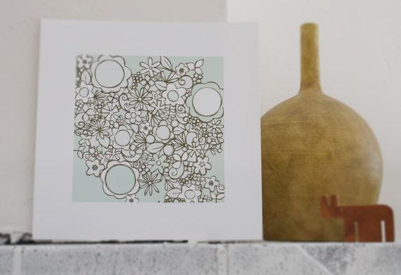 Flower illustration // print // art // wall decoration // nursery