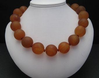Collier cornaline orange