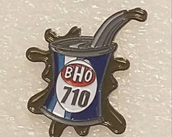 BHO 710 Hat Pin- Bho oil 710 hat pin- oil can pin- 710 Hat pin- Enamel Pin- Lapel Pin