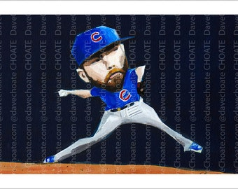 Jake Arrieta, Chicago Cubs - Art Photo Print