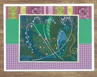 handmade greeting or note card