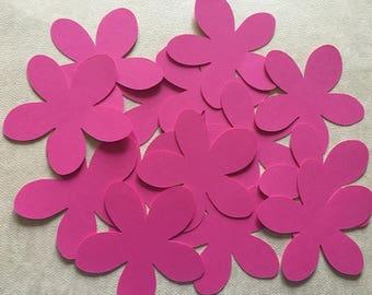 25 Cut Out Paper Cardstock Flowers,  Die Cut Flowers
