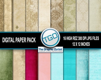 Digital Paper Set V1 16 High Rez 300 DPI JPG Files