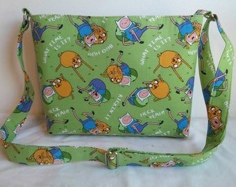 Adventure Time Zippered Crossbody/Shoulder bag