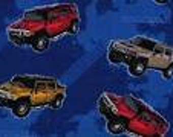 Hummer Fabric, HumVee Fabric, Truck Fabric, Quilting Cotton