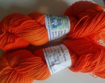 Tangelo (Hunters Orange) 438yds sock yarn