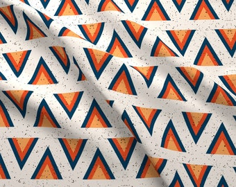 Retro Arrowhead Fabric - Alternating Arrowhead On Off White By Tramake - Geometric Home Decor Cotton Fabric By The Yard With Spoonflower