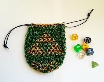 """Chainmaille Dice Bag - """"Adult Wallet"""""""