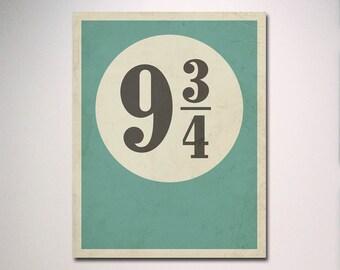 Harry Potter Poster / 9 3/4 Poster / Platform 9 3/4  Platform 93/4 Poster / Harry Potter Minimalist Poster
