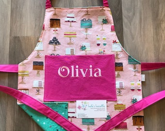 Kids Cake Confection Sweet Cakes, personalized apron
