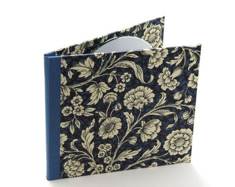2 disc CD folio by Nauli in blue Renaissance Flower