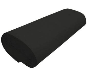 "Supreme Solid Acrylic Felt Fabric -BLACK - Sold By The Yard- 72"" Width"
