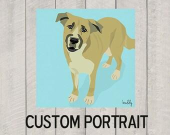 Custom Dog Portrait - Modern Dog Art