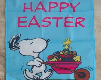 Peanuts Snoopy & Woodstock Happy Easter Holiday 14*18 inches Garden Flag
