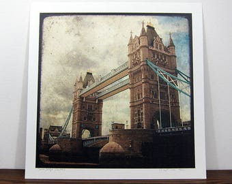 Tower Bridge - London - 30x30cm photo print - signed and numbered