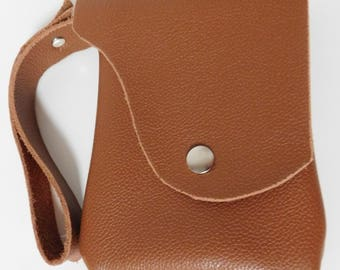 Leather Cell Phone Wristlet Bag, Leather Bags and Purses