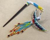 Humming bird hair clip...