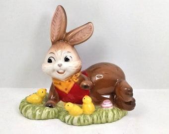 Goebel porcelain rabbit on lawn cm 11