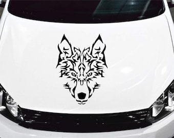 Majestic tribal wolf decal/sticker/wolf decal/tribal wolf decal/dog decal/wildlife/tribal decal/electronics decal
