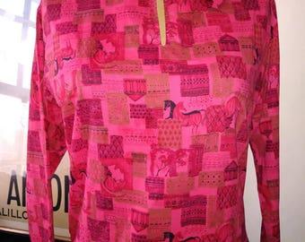 Late 50s novelty blouse.