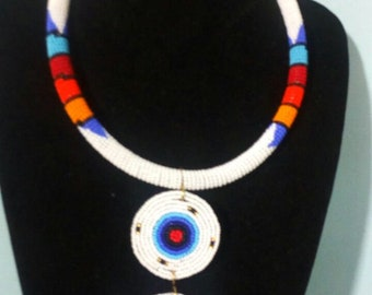 maasai necklace/ beaded necklace / colourful necklace / tribal necklace