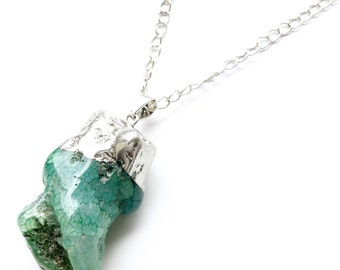 """The """"Joey"""" Aquamarine Quartz Necklace. Fast Shipping with Tracking For US Buyers."""